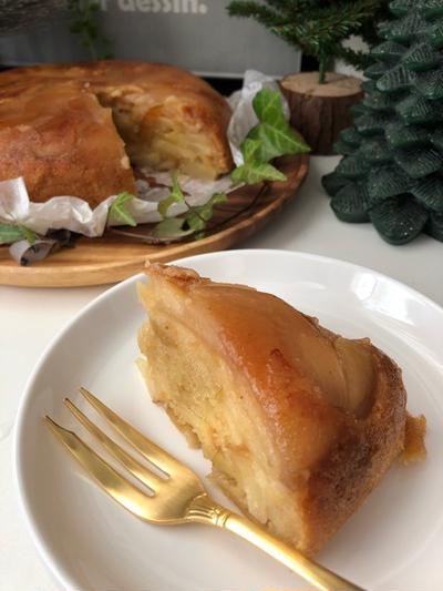 炊飯器で簡単で美味しすぎるタルトタタン風『リンゴケーキ』