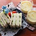 普通のハムサンド&豆乳コーンスープ☆夫がいるので簡単ランチ。後半にはお勧めサンドイッチレシピ3選!