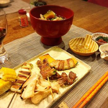 おうちで焼き鳥 〜3種類の薬味タレ