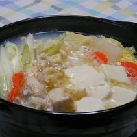 超簡単ひとり鍋が本格的で美味しい〜!モランボンPREMIUM鍋つゆで博多風水炊き。