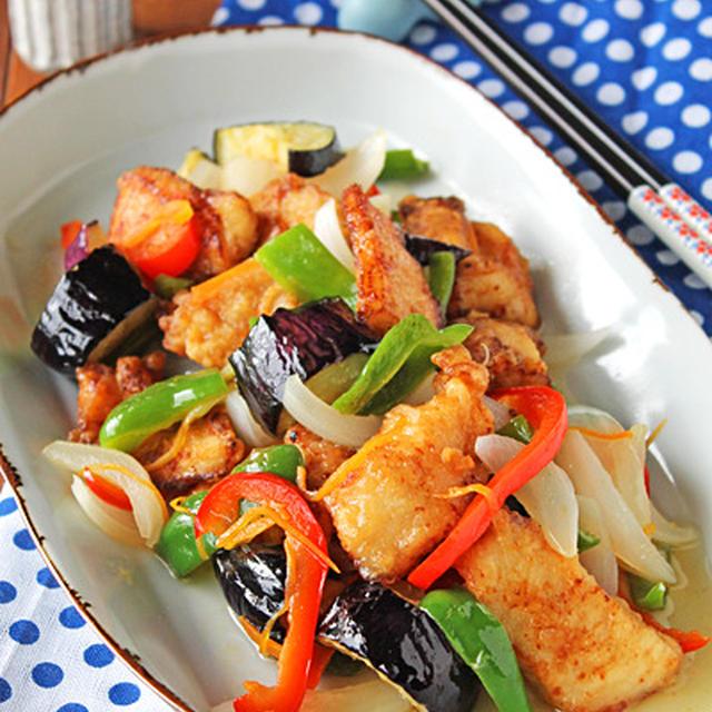 鶏胸肉でサッパリチキンと野菜の南蛮漬け☆作り置き!息子からの宝物