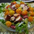 韓国風タコとそら豆とロケットトマトのサラダ by とまとママさん