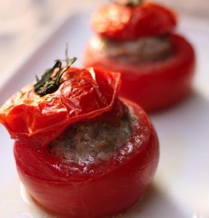 エスニック風トマトのファルシ  - トマト -