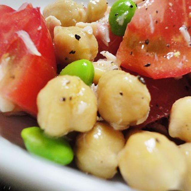 ■ トマト×ひよこ豆のサラダ