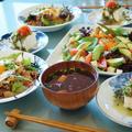 【朝ご飯です♪】目玉焼き乗せ牛丼/彩リサラダ/なめこ汁/他。 by あきさん