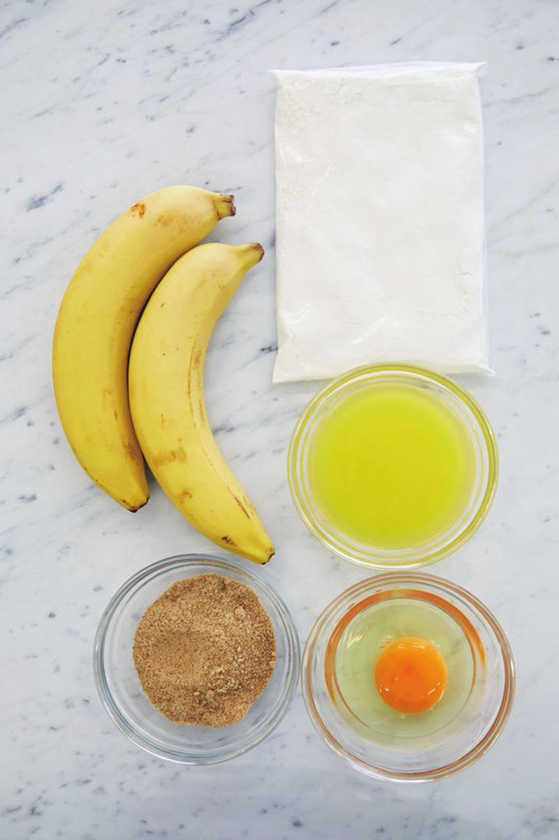 材料(18cmパウンド型1台分)<br><br>ホットケーキミックス…150g<br>バナナ…2本(...