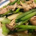 サッと炒めて小松菜シャキシャキ♪小松菜としめじと豚肉のペッパー炒め♪