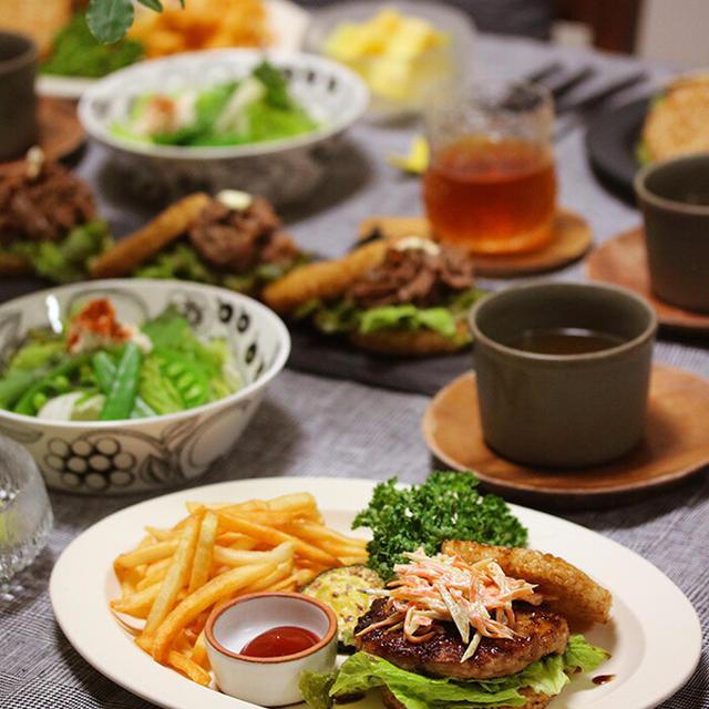 【献立】残り物でライスバーガープレート。~我が家の台湾パイナップル事情~