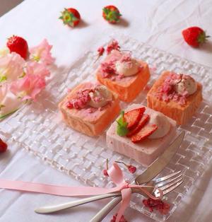 フライパンで出来ちゃう☆桜のケーキ