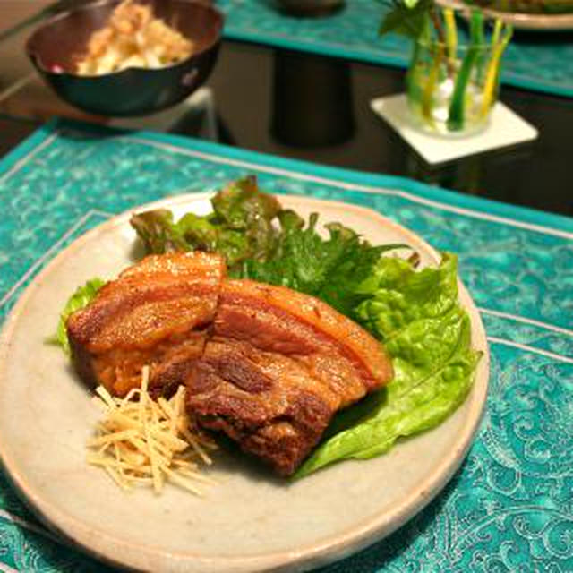 沖縄料理..ラフティーと島らっきょう