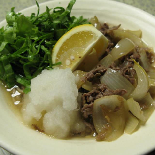 肉おろしとろみ蕎麦(レシピ)