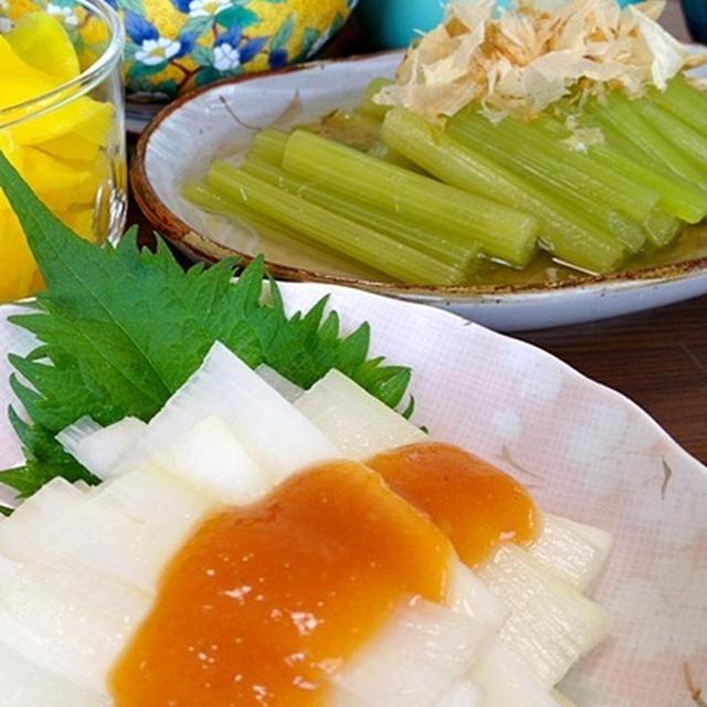 うどの酢味噌和え&ふきの煮物