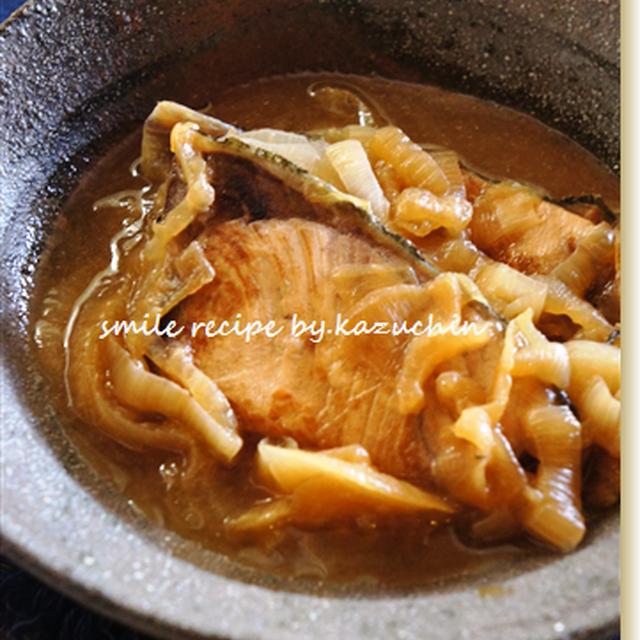 玉葱とブリのサッと煮