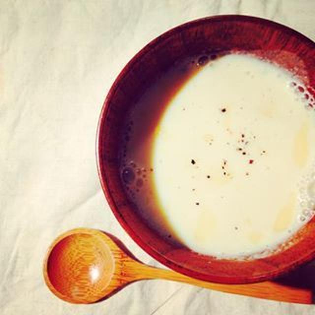 ジャガイモ豆乳ポタージュ*ほっこり塩麹