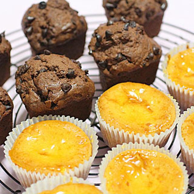 ミニチーズケーキ、チョコレートマフィン