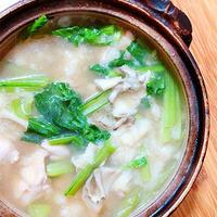 鶏肉と長芋団子、小松菜のお鍋