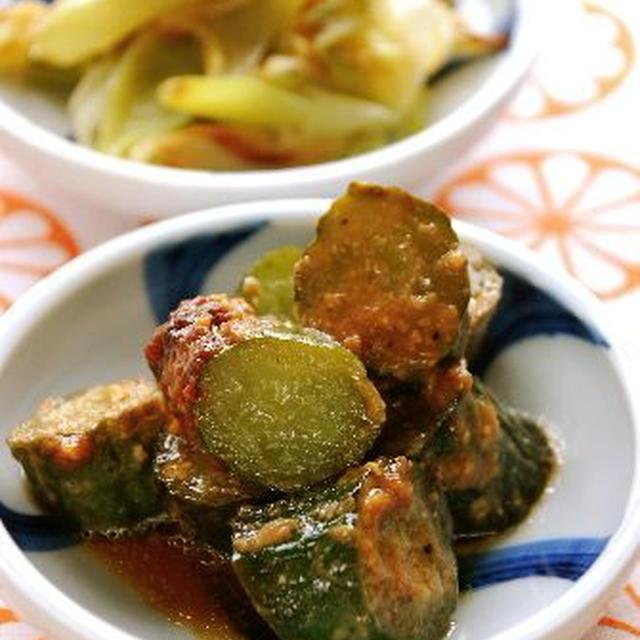 中華風味のきゅうりの味噌煮