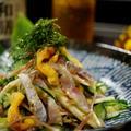 簡単!5分!「和膳ビール」が旨い!!【鯵とホヤの辛子酢味噌和え】  by あきさん