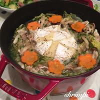 白菜のカマンベールミルフィーユ鍋