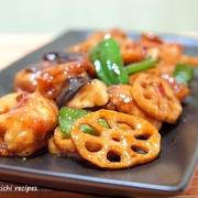 鶏肉と揚げ蓮根のピリ辛炒め&「娘がハマってる副菜」