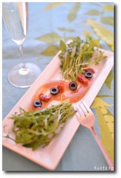 ルッコラと 練り梅ドレの 前菜風 / ストウブで作る 定番ソース