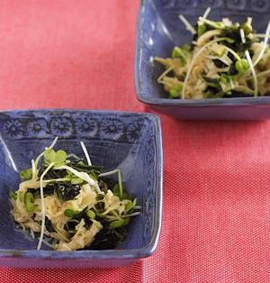 和える簡単副菜♡切り干し大根とわかめとカイワレの酢の物