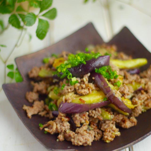 茄子とひき肉のあっさり香味炒め*食のことわざの解釈。