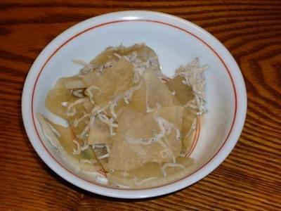 [レシピ][箸休め] シラスと大根の煮浸し