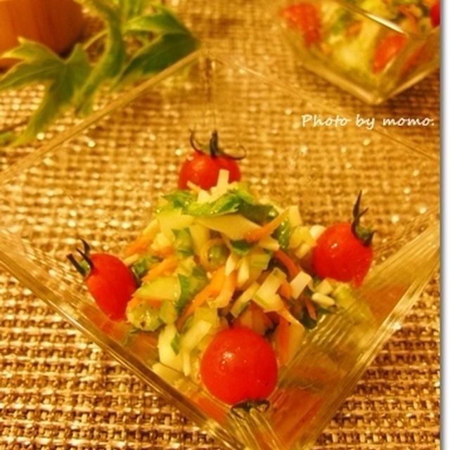 さっぱりコクまろ♪いか燻とセロリのサラダ(レシピ付き)