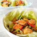 ムール貝と野菜のカレー風味炒め♪