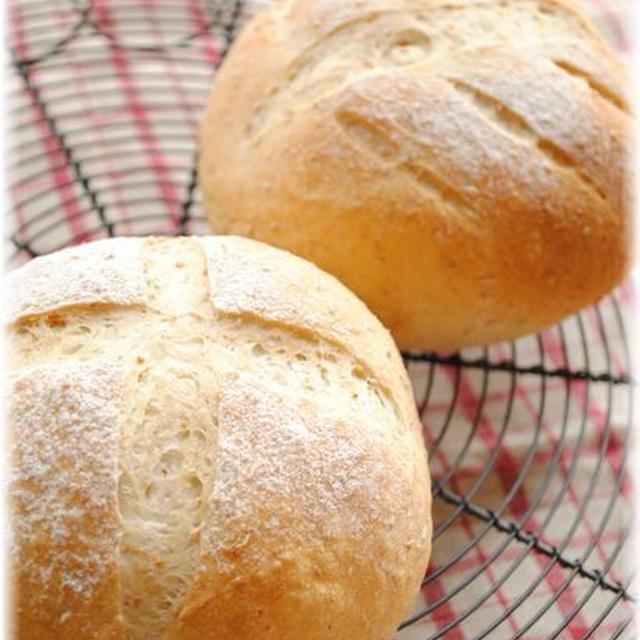 久しぶりのパン焼き*全粒粉の田舎パンでブランチ*