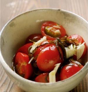 プチトマトの塩昆布マリネ