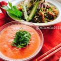 【トマトめんつゆ】と【もずくそうめん】(動画レシピ)/Mozuku somen and Tomato noodle soup.