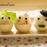 ゆで卵おにぎり3兄妹