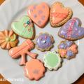 【2月】バレンタインクッキーは可愛いピンクのハートとリボンがポイントです!