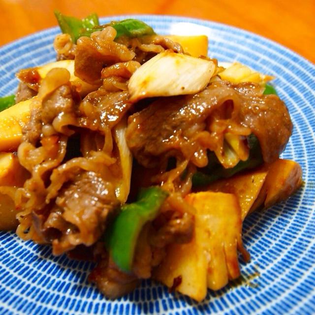 牛肉と野菜の梅肉炒め