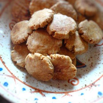 チンするレシピ★レンジで簡単★八丁味噌とゴマのさくさくクッキー