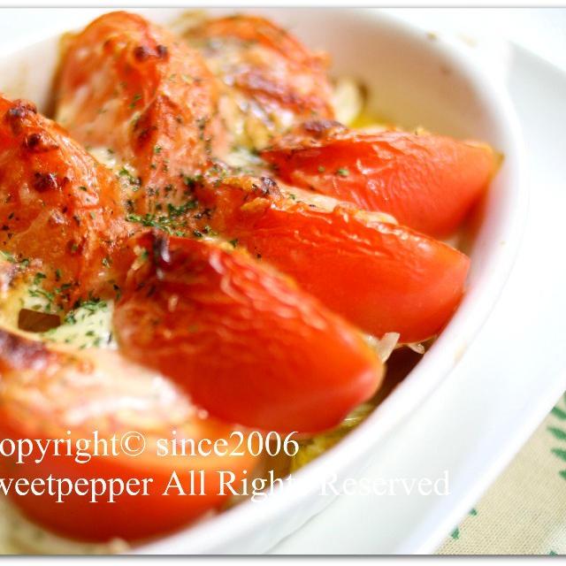ポテトとトマトのオーブン焼き。