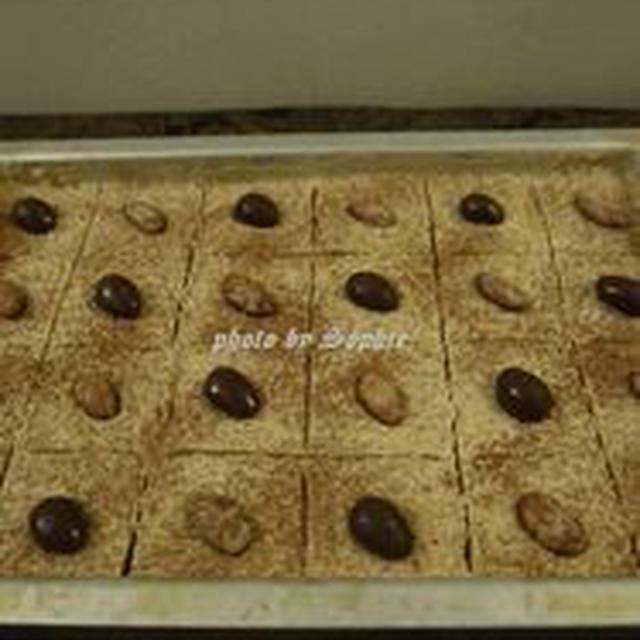 チョコレートと栗のブランデー入りバークッキー