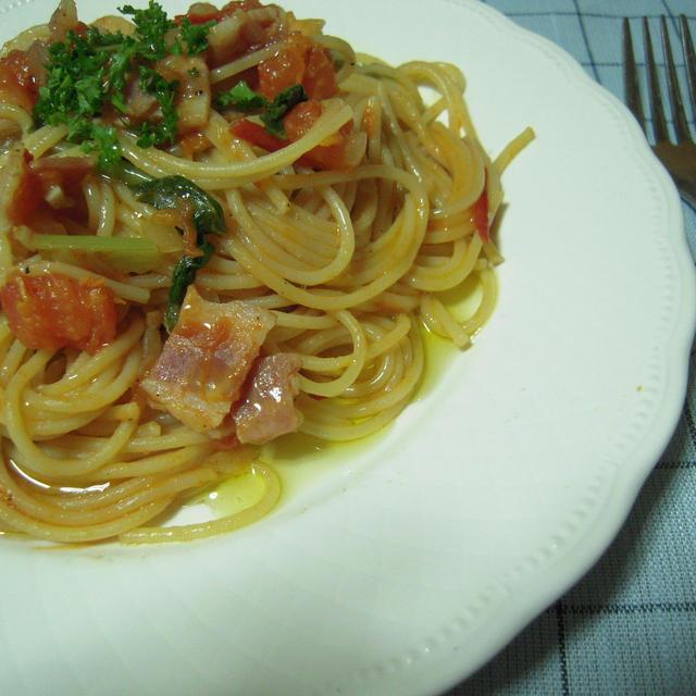 トマトの和風スパゲティ