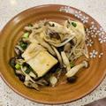 豆腐とキノコのオイスターソース炒め