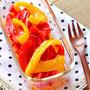 レンジで簡単常備菜。パプリカのガーリックマリネ
