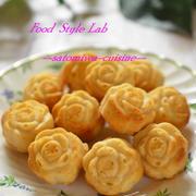ピンクチョコのバラ型ケーキ♡卵・小麦粉不使用でサクサク美味しい!