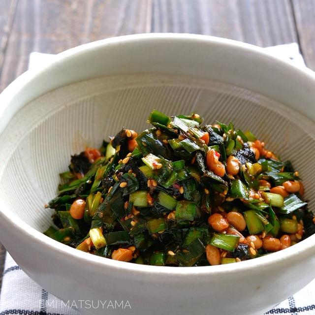 最強おつまみ!ご飯のお供!ごまニラ海苔チャンジャ納豆