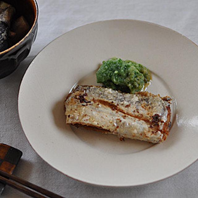 太刀魚の緑酢添え