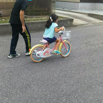 【次女】自転車デビュー♡