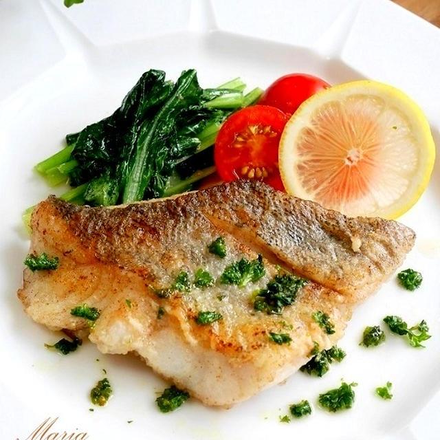 白身魚のムニエル*パセリレモンソース