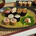 南関あげで巻き寿司♪と軍艦巻きの晩御飯