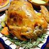 丸鶏でローストチキン