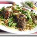 オイルサーディンと水菜のパスタ by 華奴さん